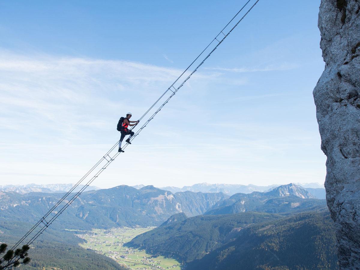 Himmelsleiter Gosau Donnerkogel Klettersteig