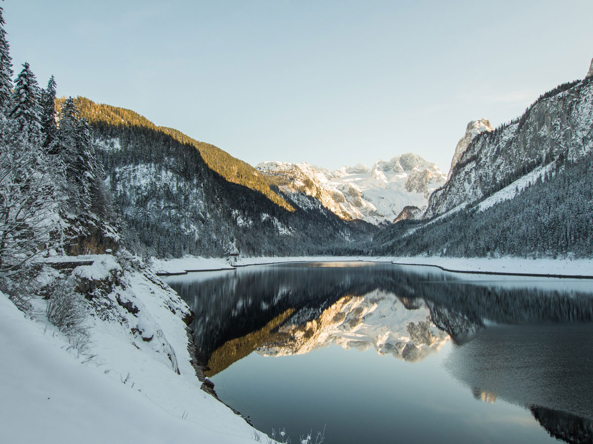 Gosausee Oberoesterreich Winter