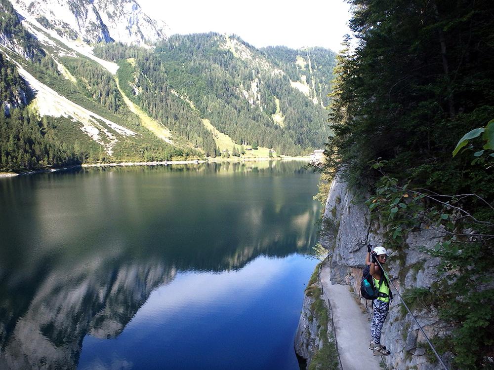 Laserer Alpin Klettersteig Gosausee Brücke