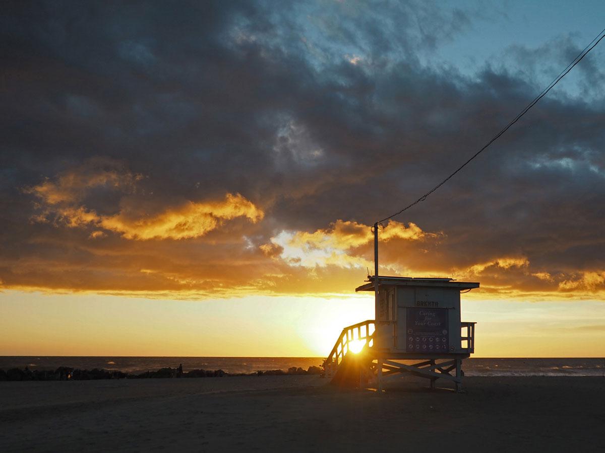 Los Angeles Sonnenuntergang Praktikum Amerika