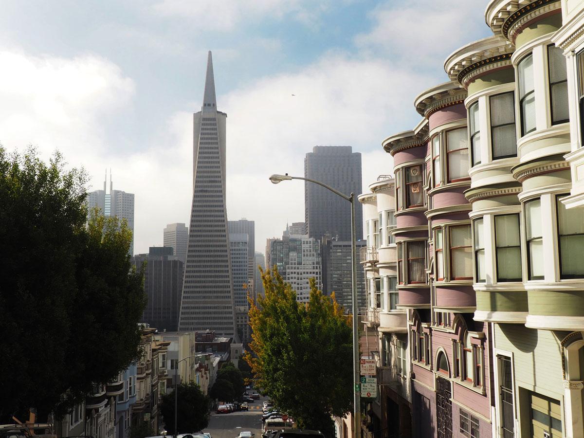 Coit Tower Aussicht auf San Francisco