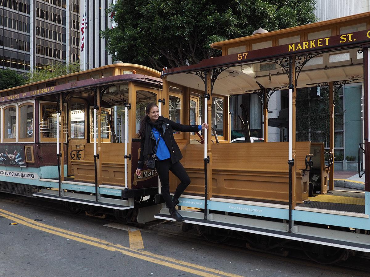 Cable Car fahren in San Francisco