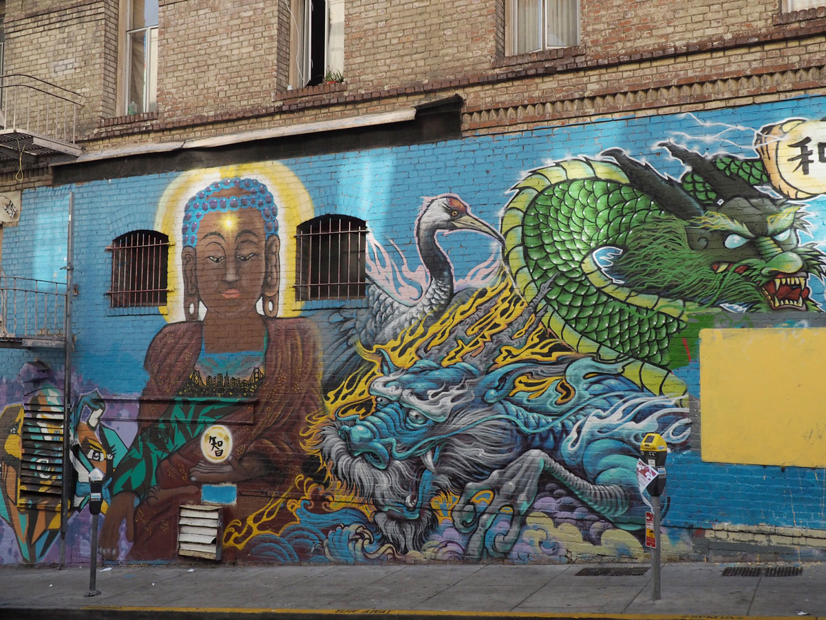 Chinatown Graffiti in San Francisco