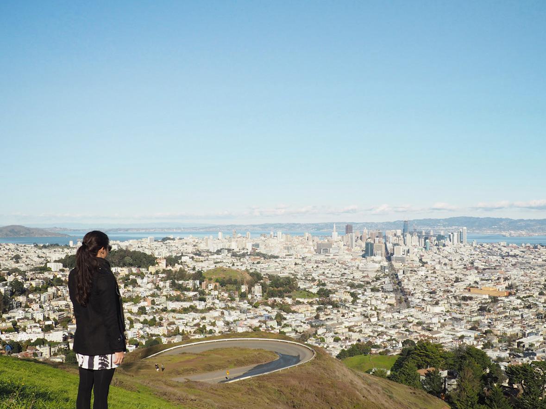Die beste Aussicht auf San Francisco Twin Peaks