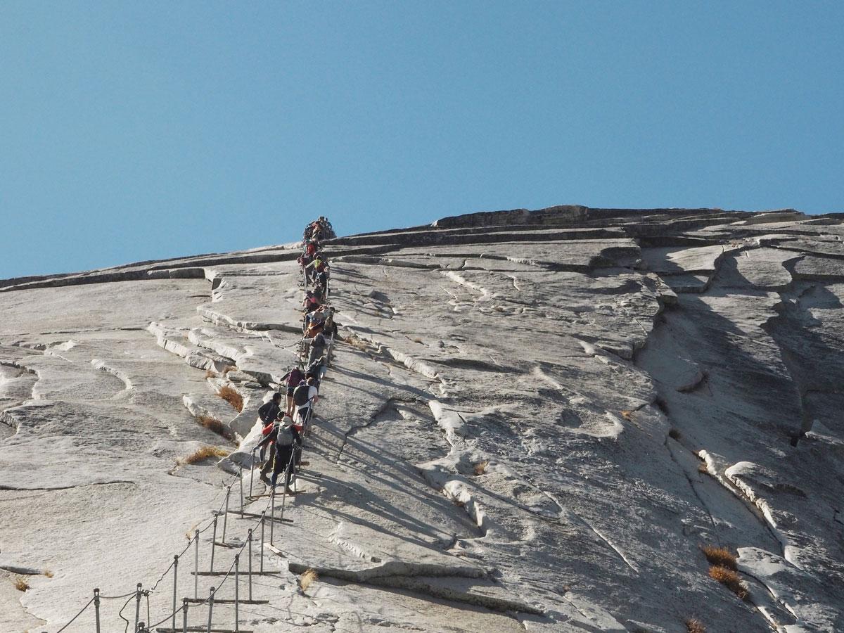 Klettersteig Yosemite : Yosemite nationalpark wanderung auf den half dome smilesfromabroad