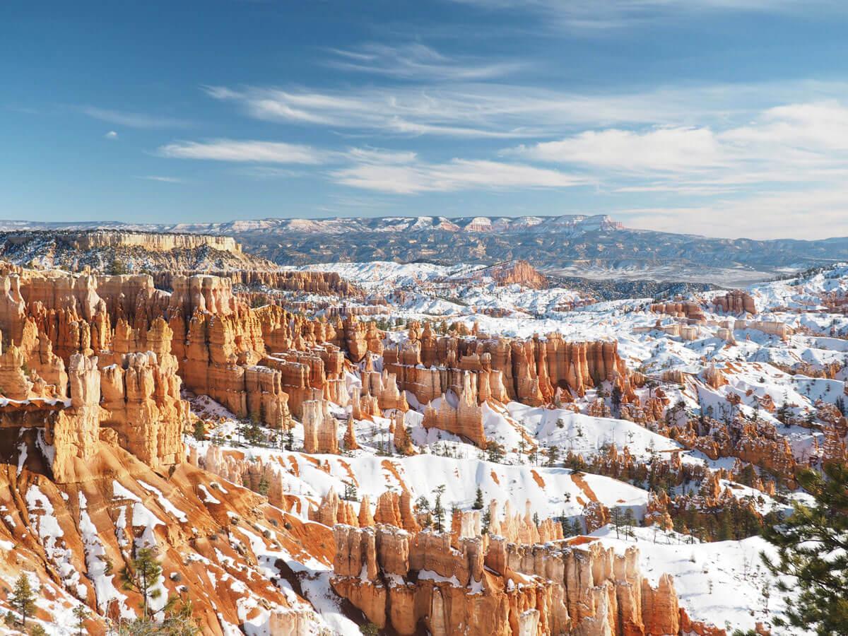 Bryce canyon im winter mit schnee wenn es nicht mehr for Cabine vicino a bryce canyon