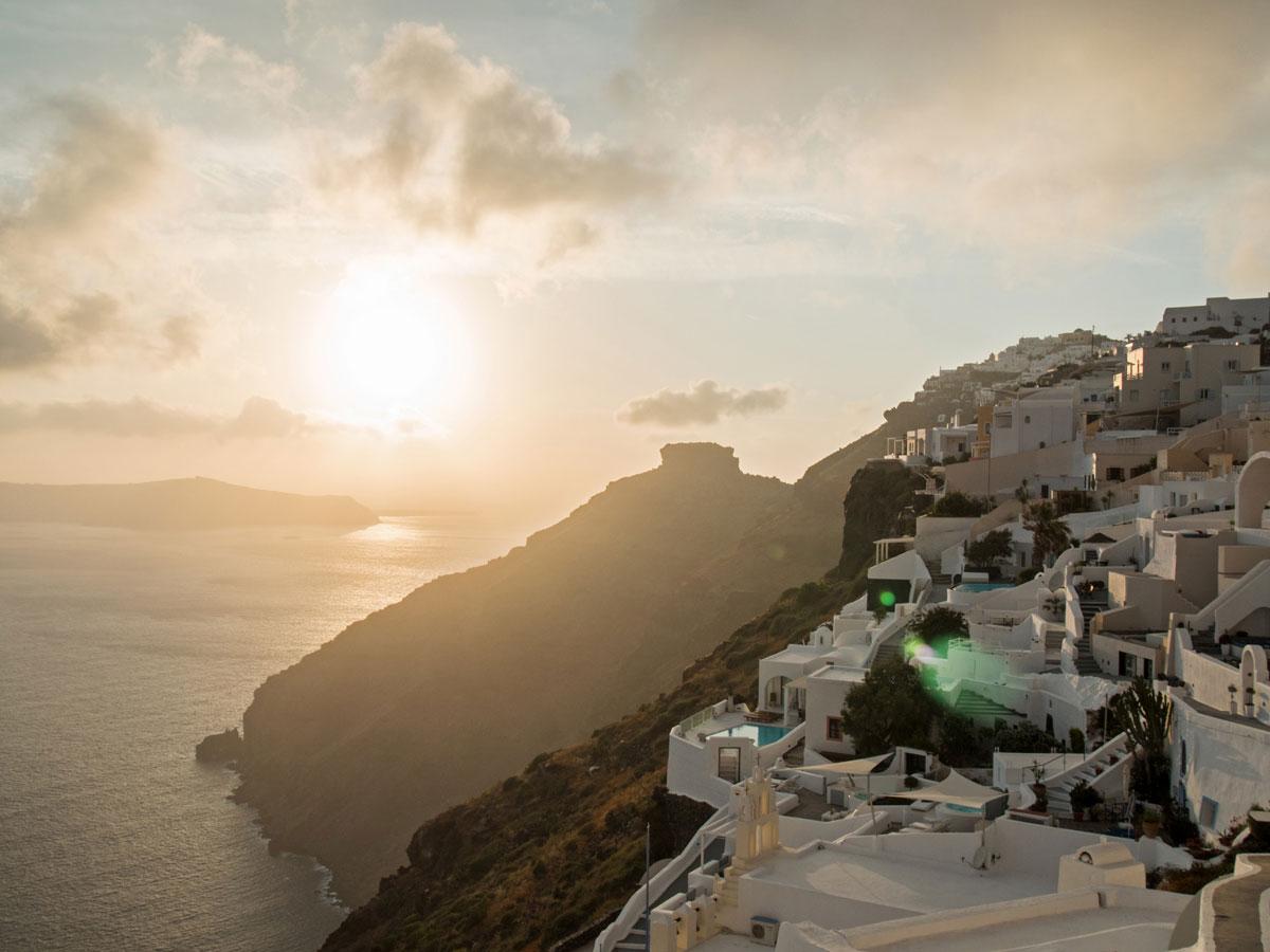 sonnenuntergang sunset santorin fira thira - Meine 5 Lieblings Fotospots auf Reisen - Blogparade