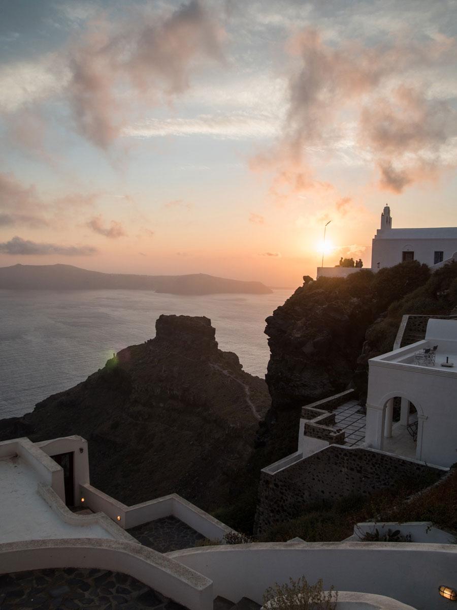 sonnenuntergang sunset santorin imerovigli 1 - Meine 5 Lieblings Fotospots auf Reisen - Blogparade