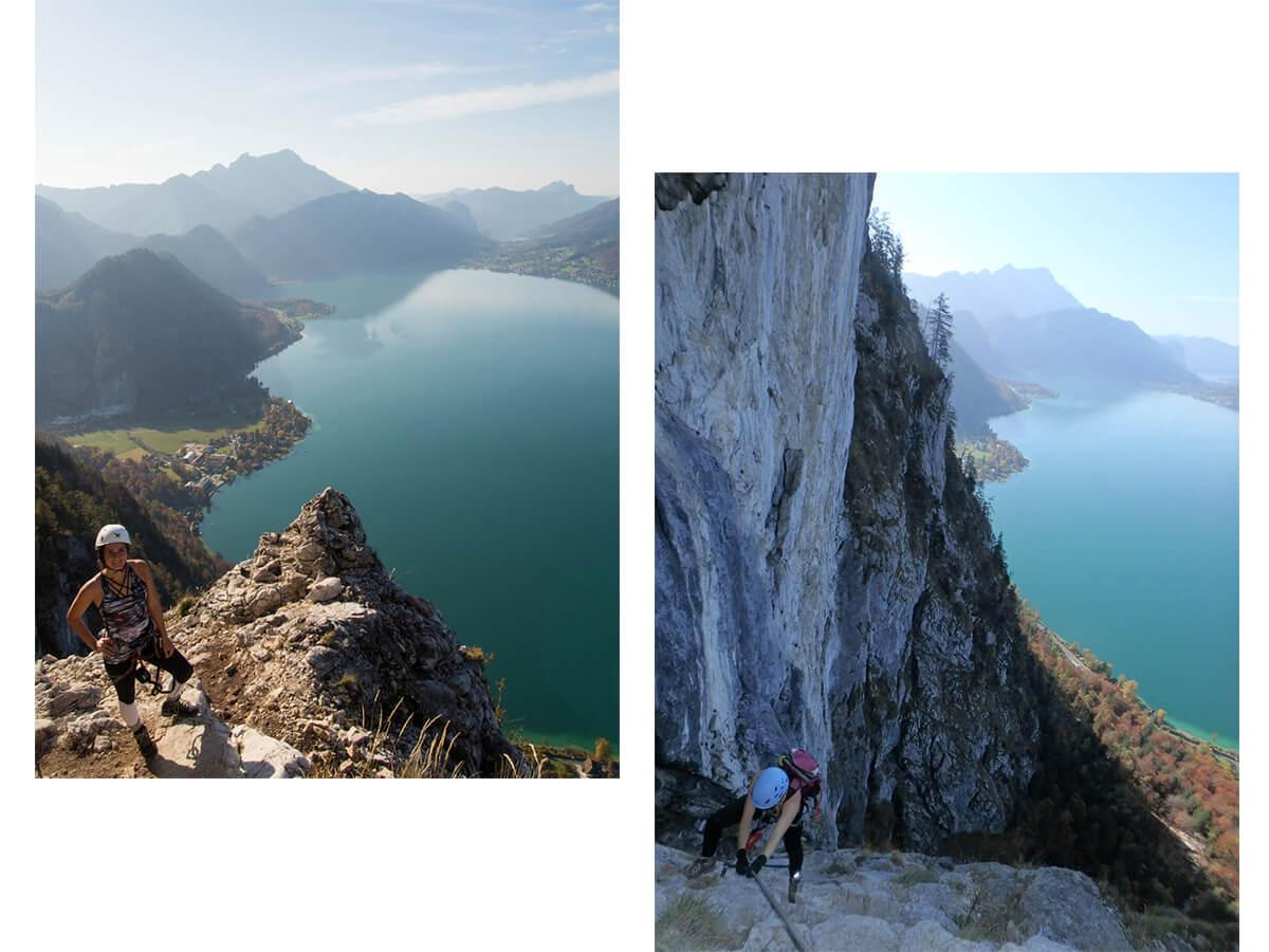 mahdlgupf attersee klettersteig - Attersee Klettersteig auf den Mahdlgupf - Impressionen