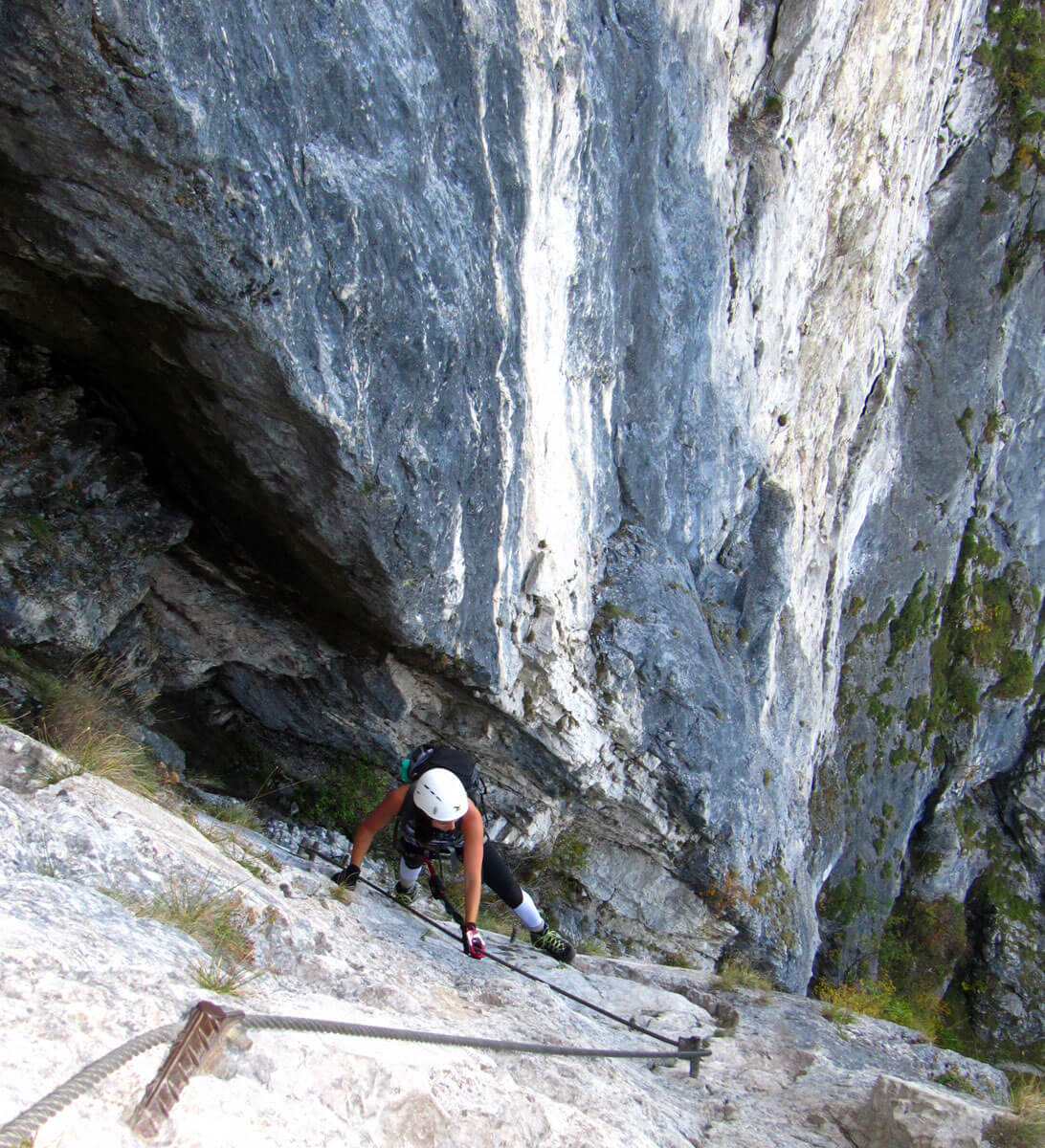 mahdlgupf klettersteig 1 - Attersee Klettersteig auf den Mahdlgupf - Impressionen