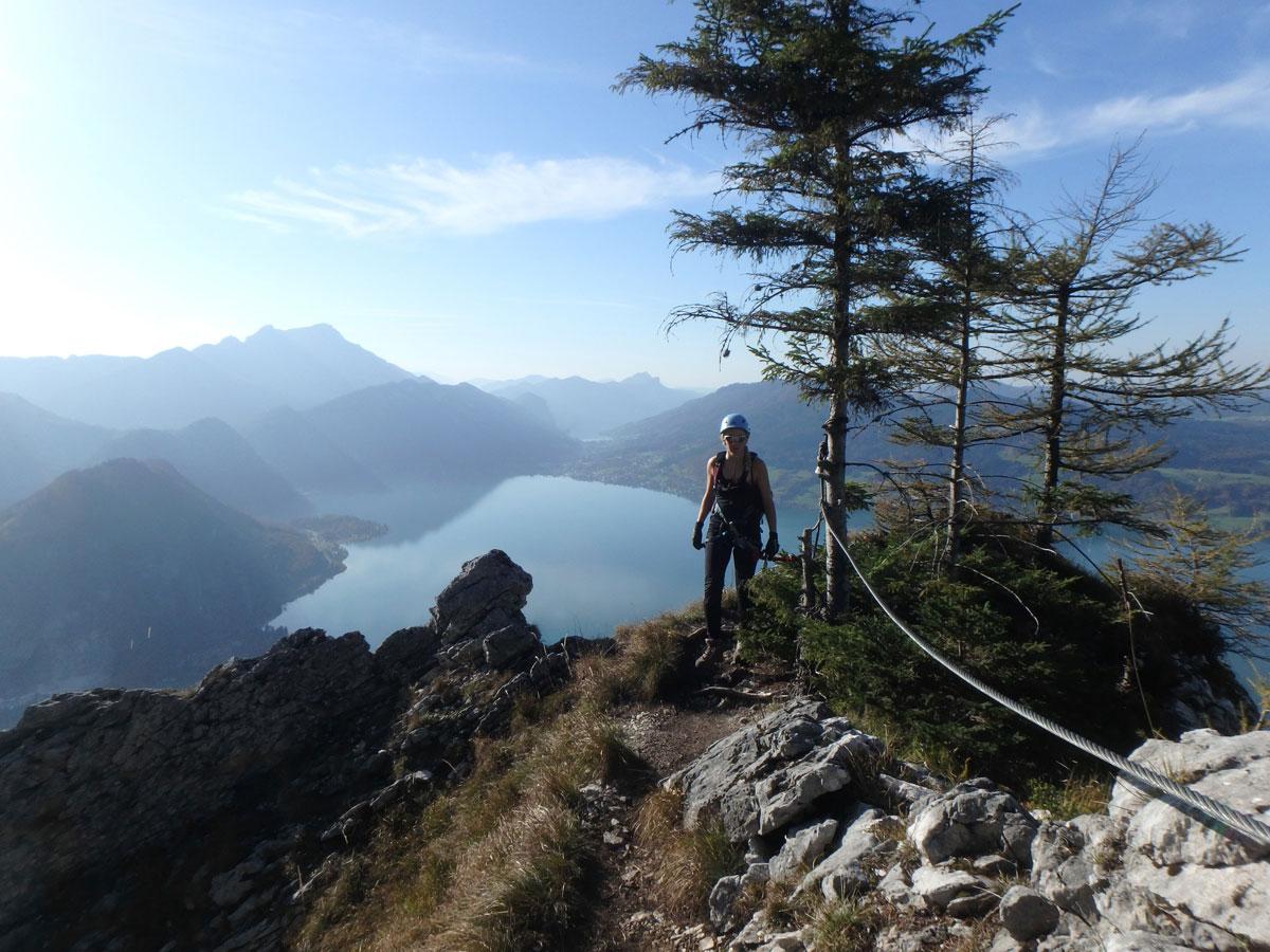 Klettersteig Mahdlgupf : Mahdlgupf klettersteig klettern mit seeblick u berghasen
