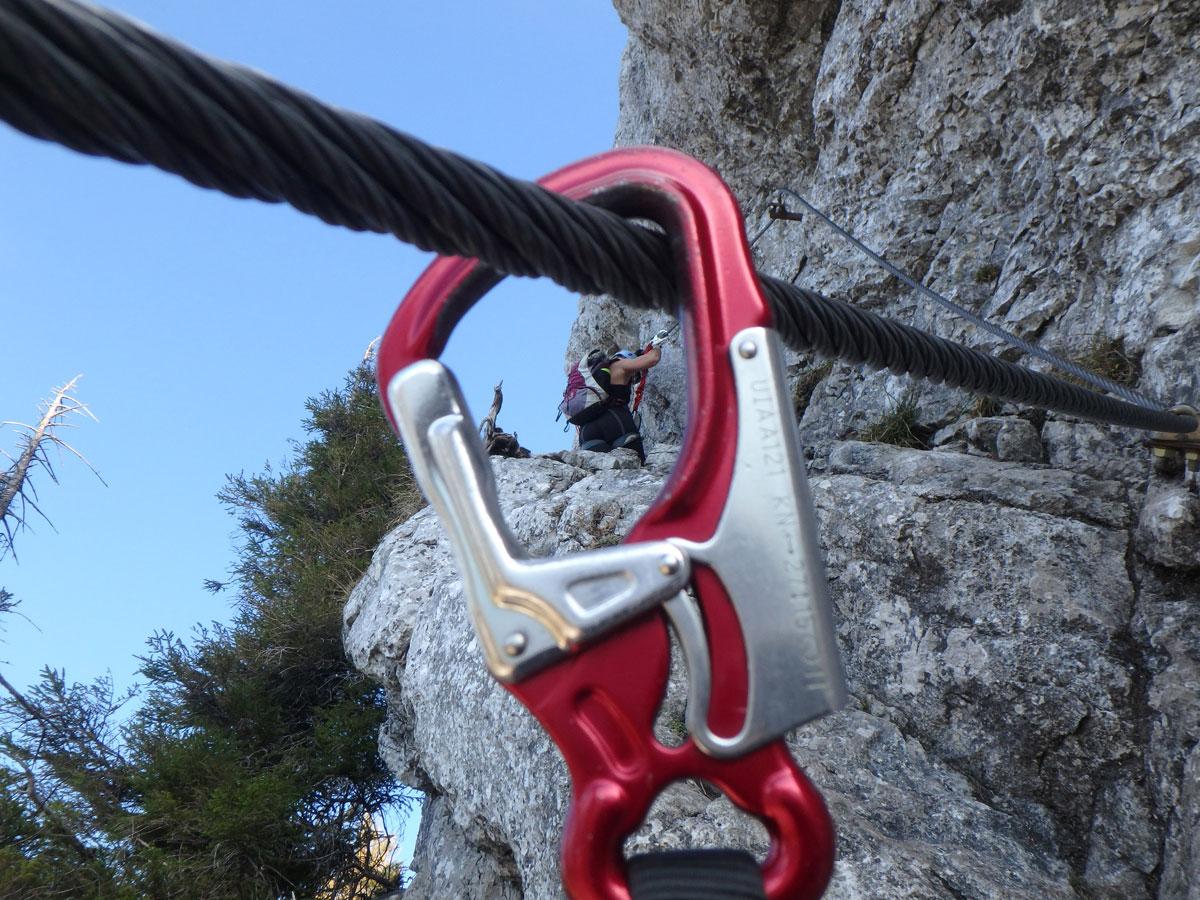 mahdlgupf klettersteig 14 - Attersee Klettersteig auf den Mahdlgupf - Impressionen