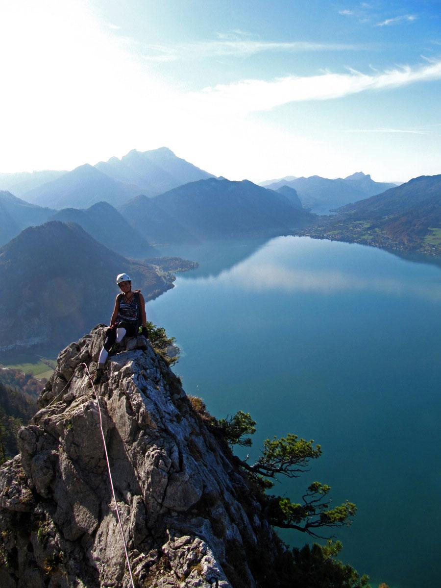 mahdlgupf klettersteig 3 - Attersee Klettersteig auf den Mahdlgupf - Impressionen