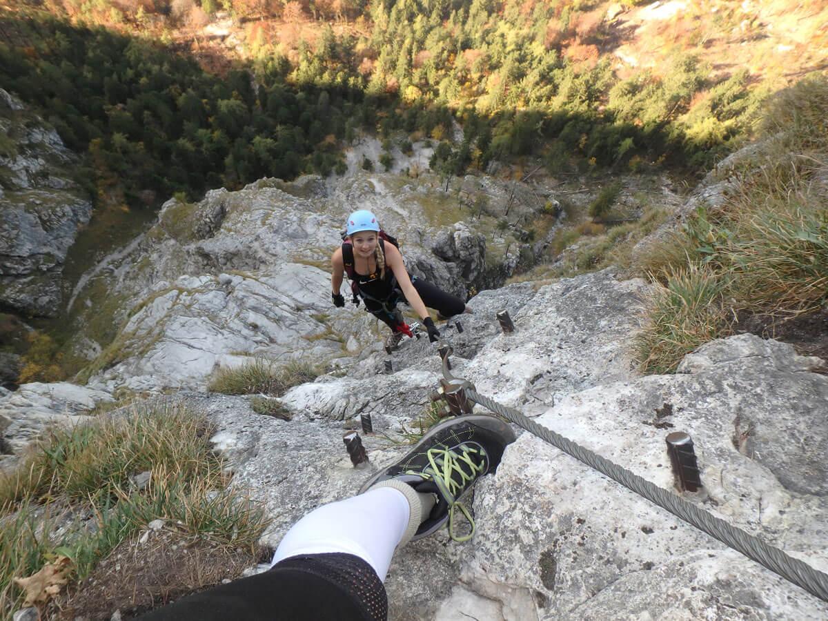 mahdlgupf klettersteig 8 - Attersee Klettersteig auf den Mahdlgupf - Impressionen