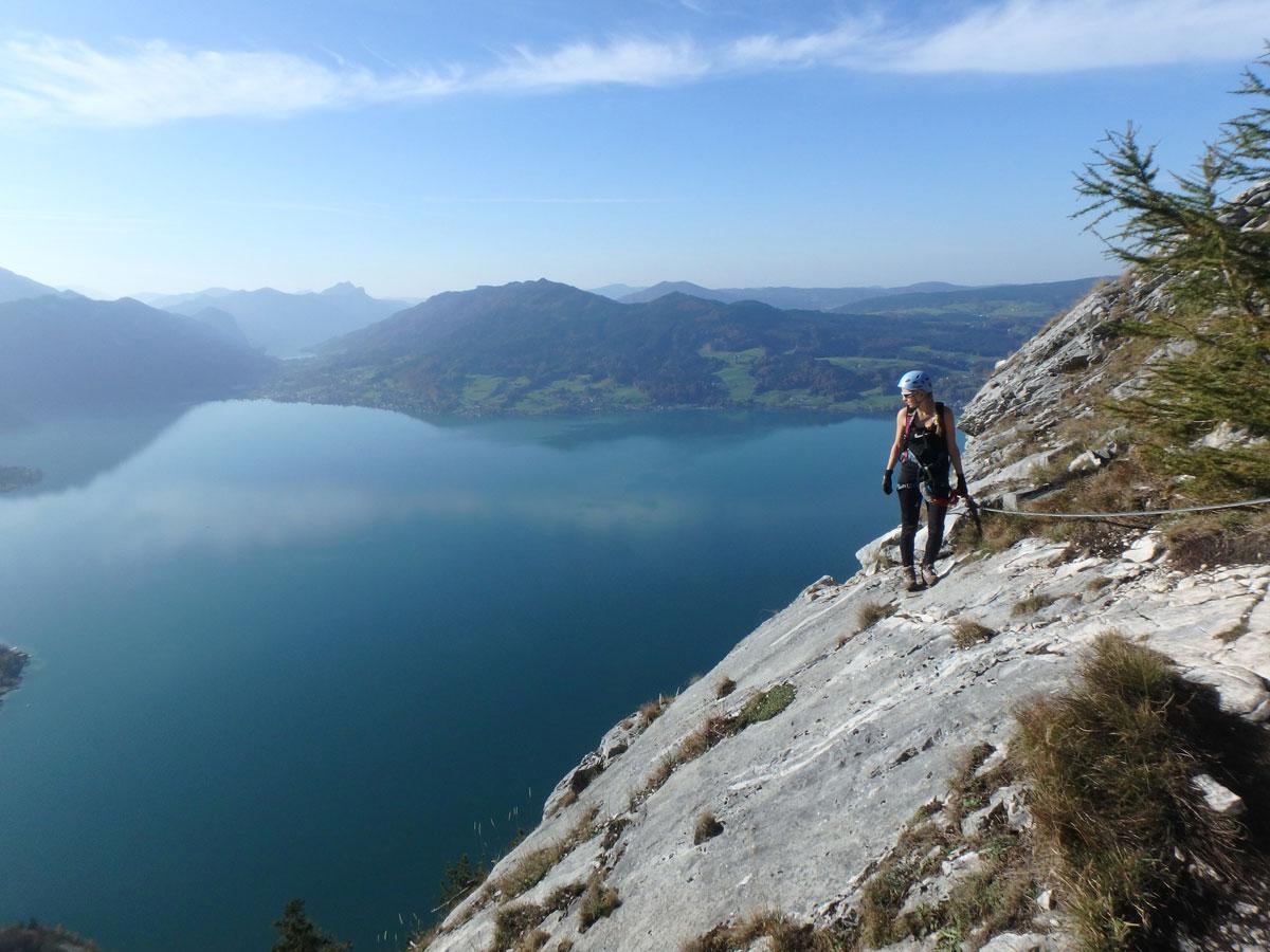 Klettersteig Oberösterreich : Attersee klettersteig auf den mahdlgupf impressionen
