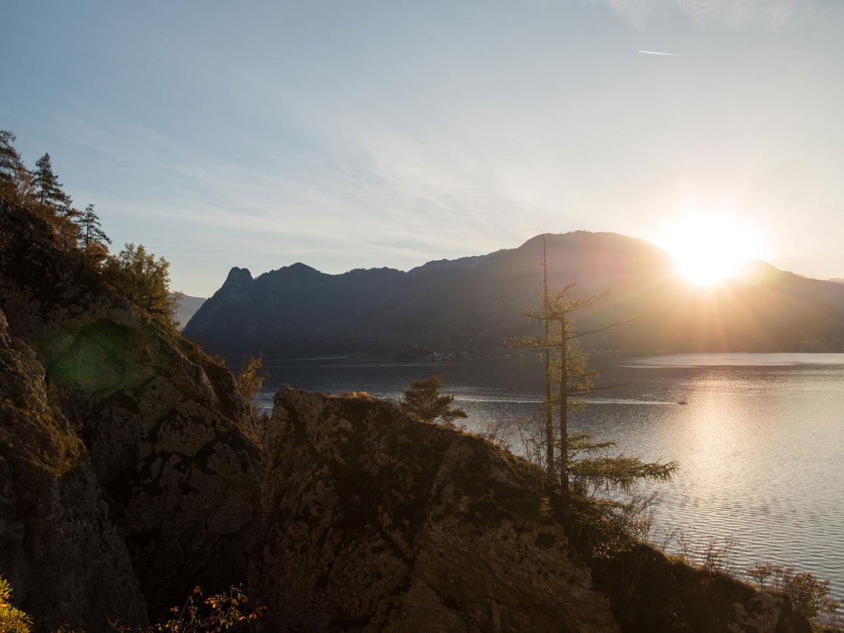 Sonnenuntergang Wanderung Traunstein