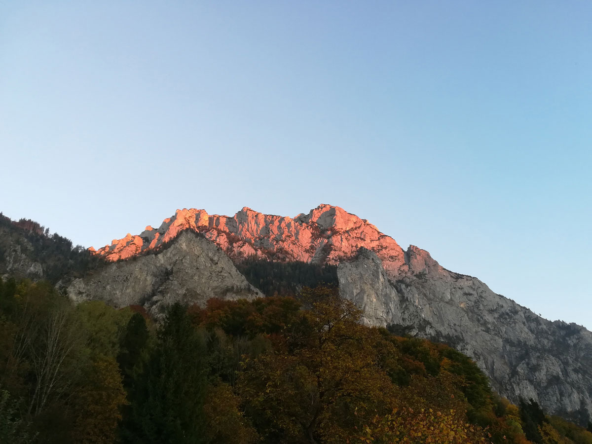 Traunstein Alpenglühen