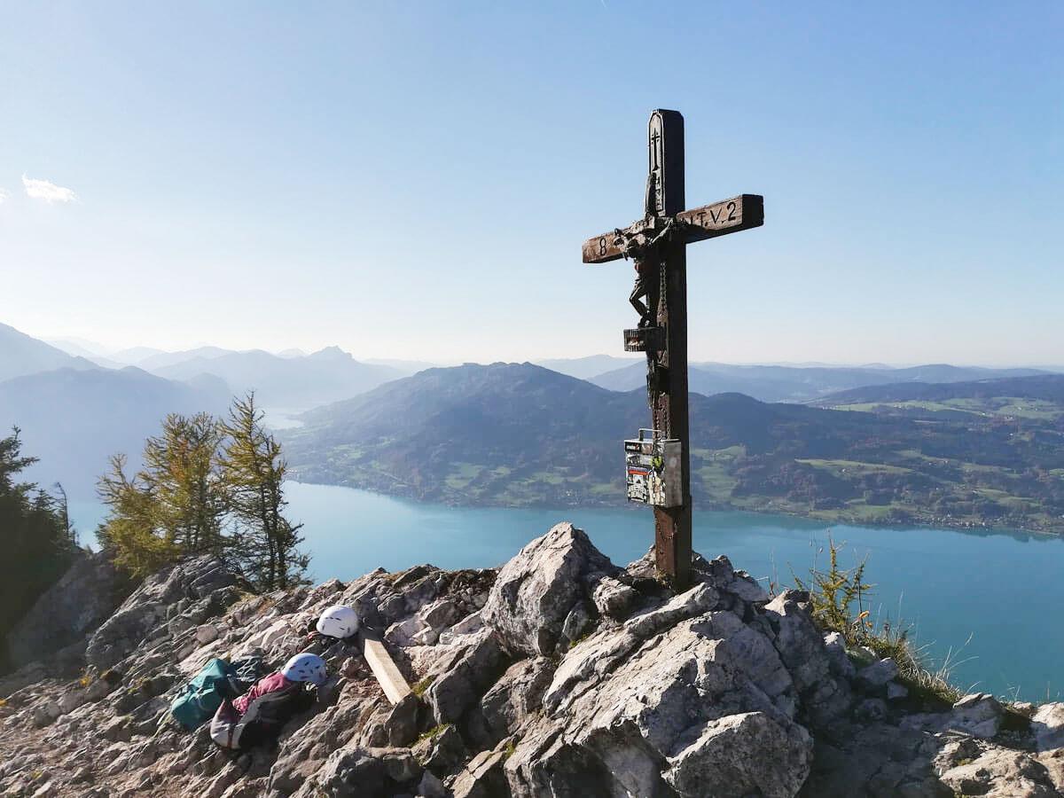 """Mahdlgupf Klettersteig Attersee Oberoesterreich ("""")"""