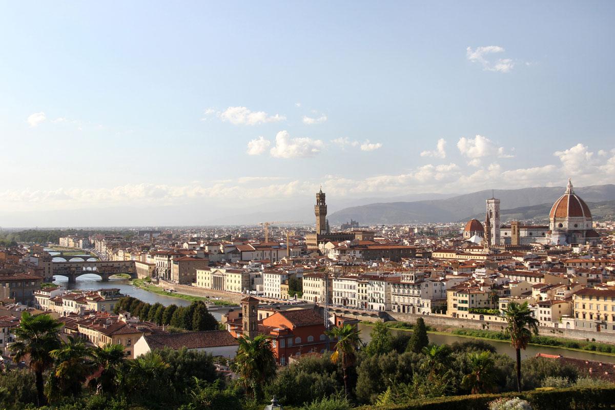 florenz piazzale michaelangelo 1 - Florenz - Die Hauptstadt der Toskana zu Fuß erkunden