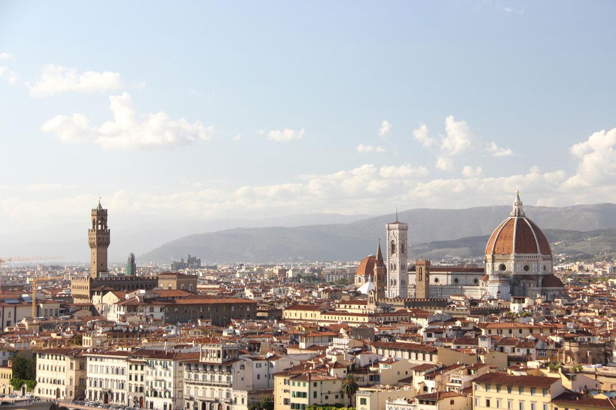 florenz piazzale michaelangelo 2 - Florenz - Die Hauptstadt der Toskana zu Fuß erkunden