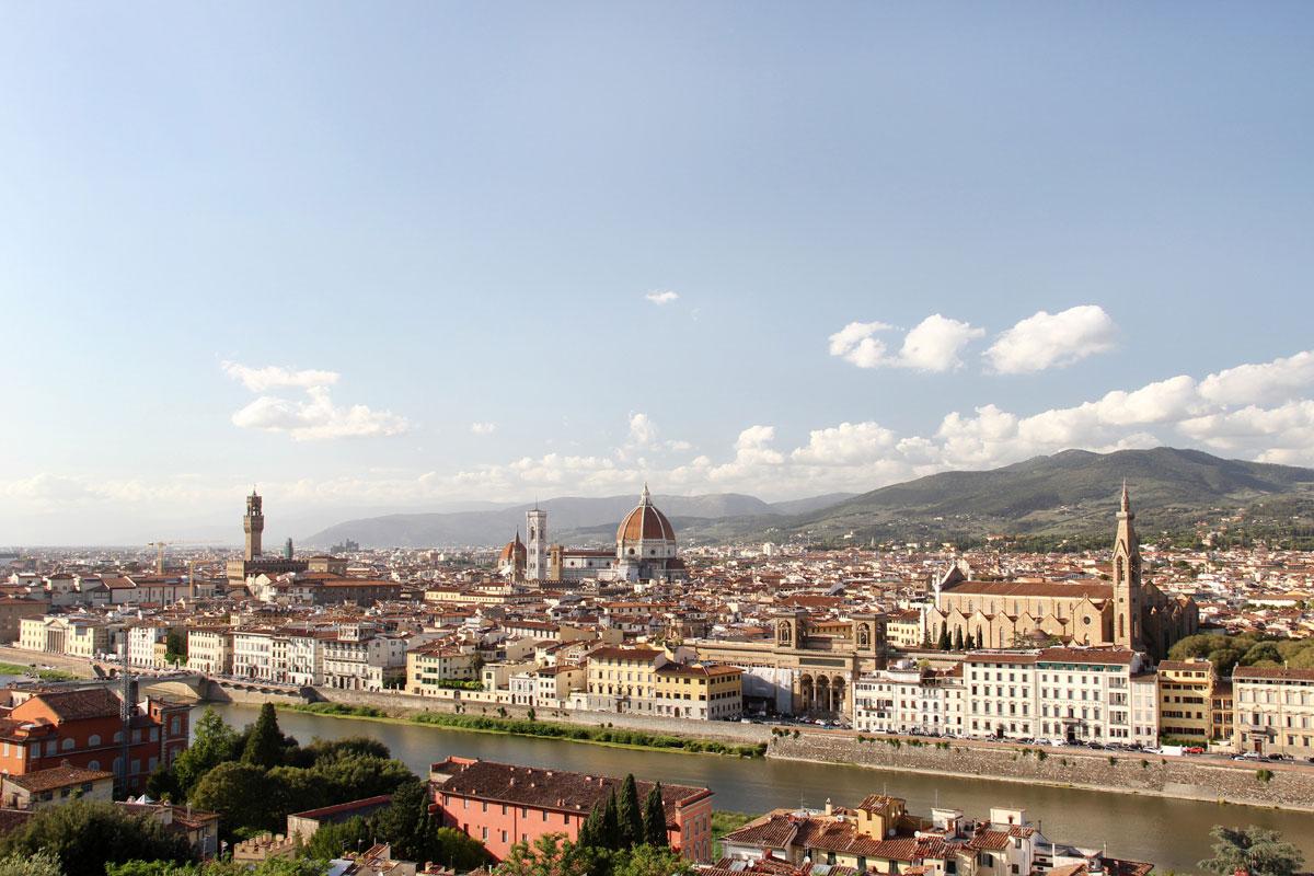 florenz piazzale michaelangelo 3 - Florenz - Die Hauptstadt der Toskana zu Fuß erkunden