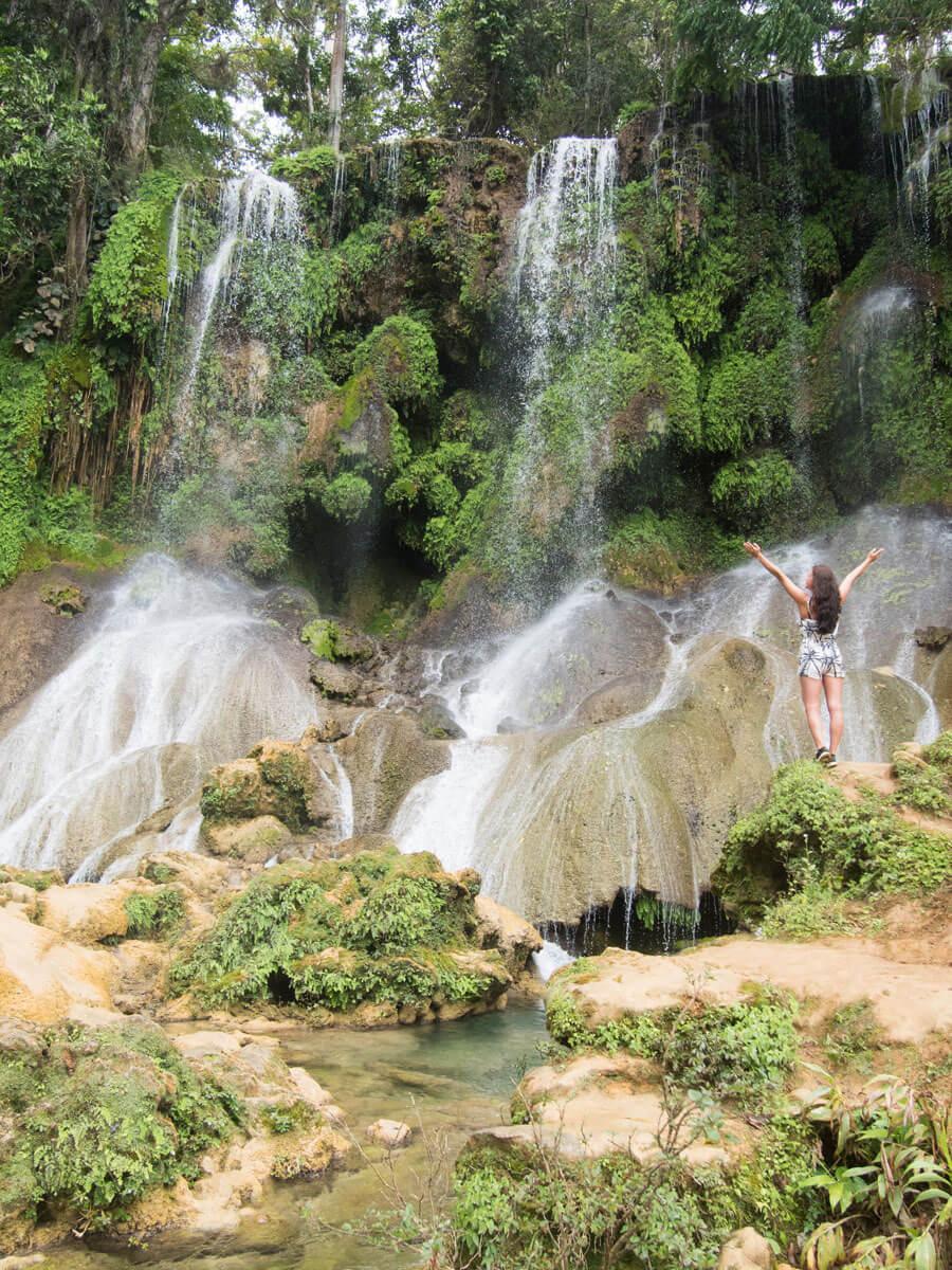 El Nicho Wasserfall in Kuba und ich