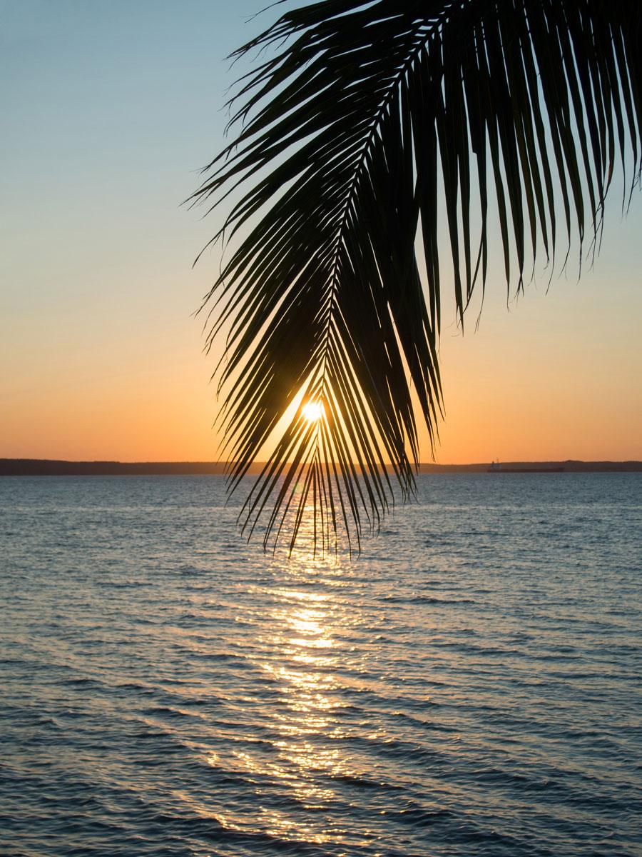 Sonnenuntergang in Cienfuegos in Kuba
