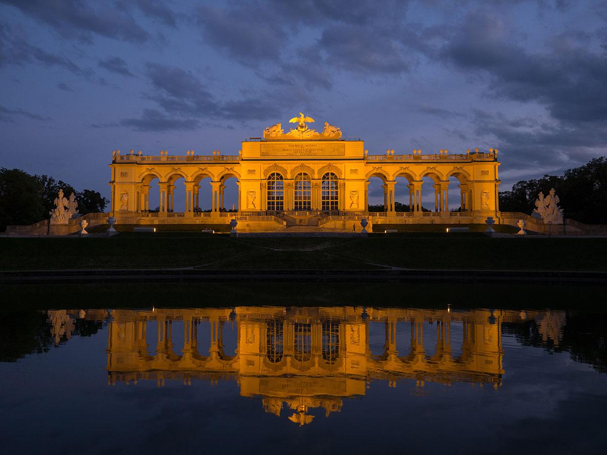 Gloriette Schoenbrunn Bei Nacht