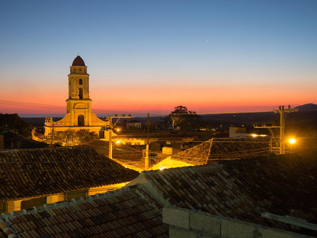 Sonnenuntergang in Trinidad in Kuba