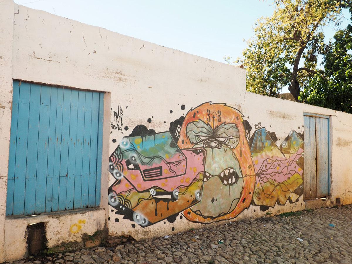 Graffiti in Trinidad in Kuba