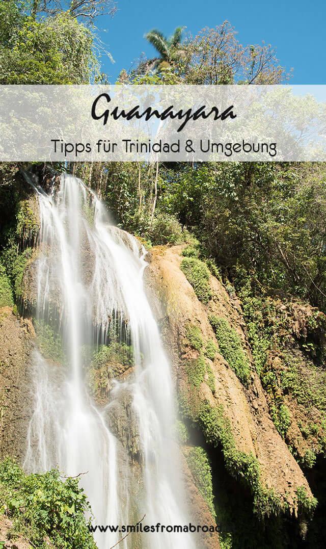 trinidad pinterest3 - Sehenswürdigkeiten in und um Trinidad in Kuba - Ausflug zu den Guanayara Wasserfälle und Playa Ancon