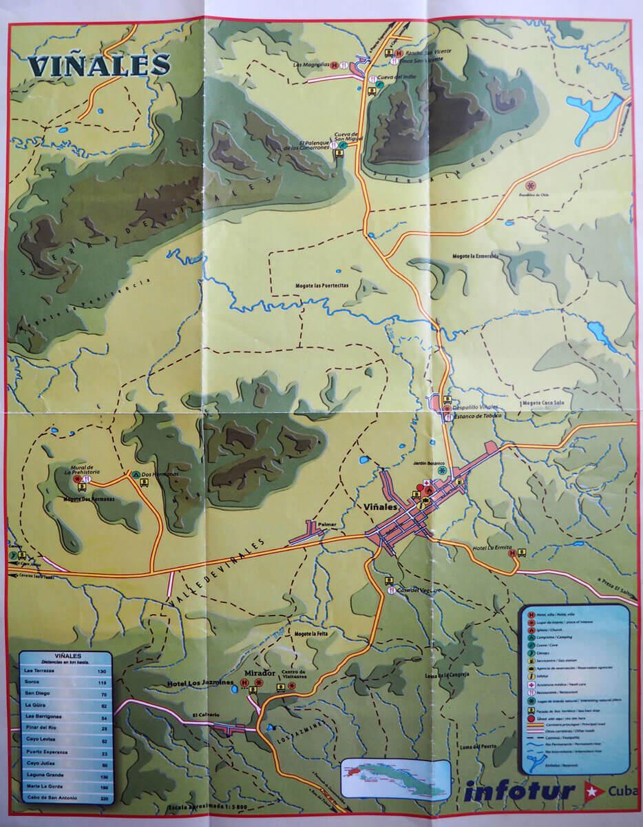 vinales kuba map infotur2 - 6 Reisetipps für das Vinales Tal in Kuba