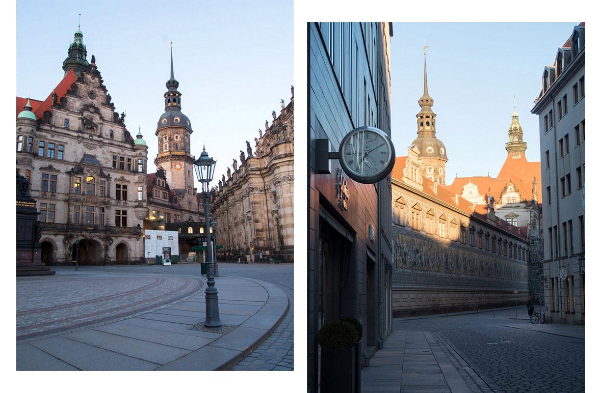Dresden zu Sonnenaufgang