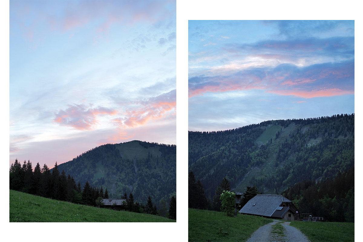 sonnenaufgang gruberalm - Almsommer - Übernachtung auf der Gruberalm in der Region Fuschlsee Salzkammergut