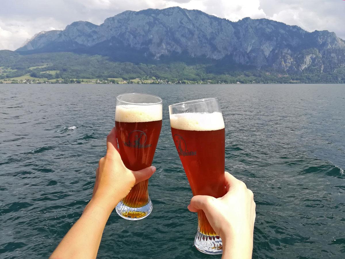 Verkostung Bierschmiede Bier Salzkammergut