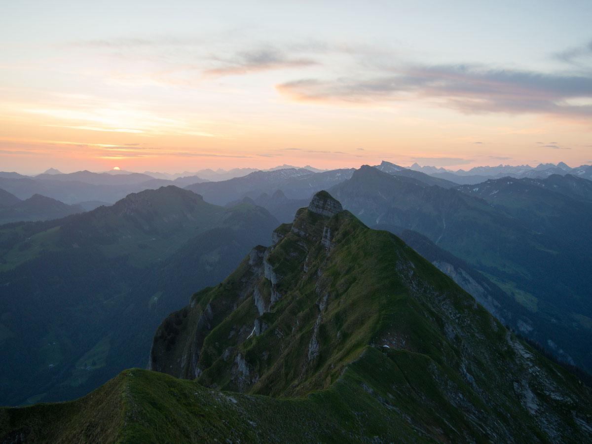 Kanisfluh Sonnenaufgang Vorarlberg wandern