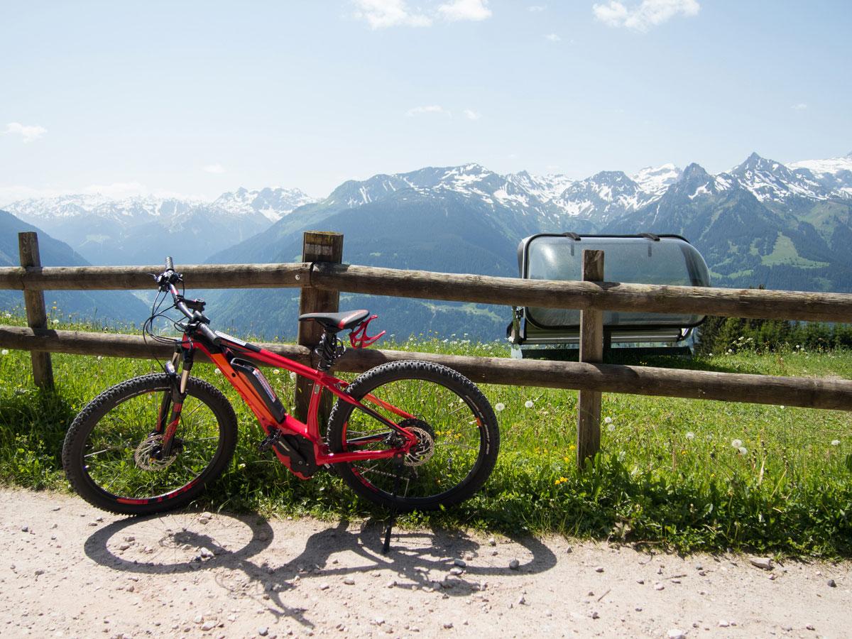 Mountainbiken Fritzensee Montafon in Vorarlberg