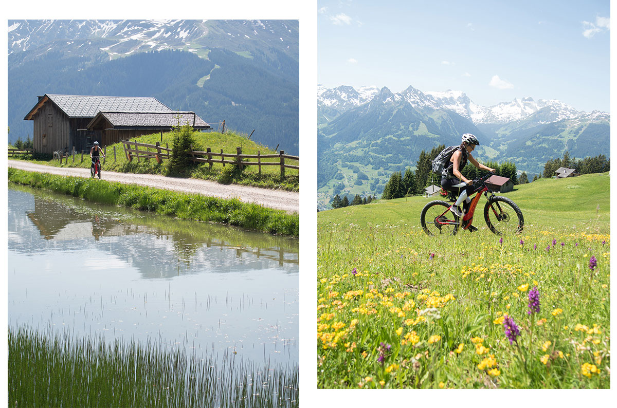 Mountainbiken in Montafon in Vorarlberg