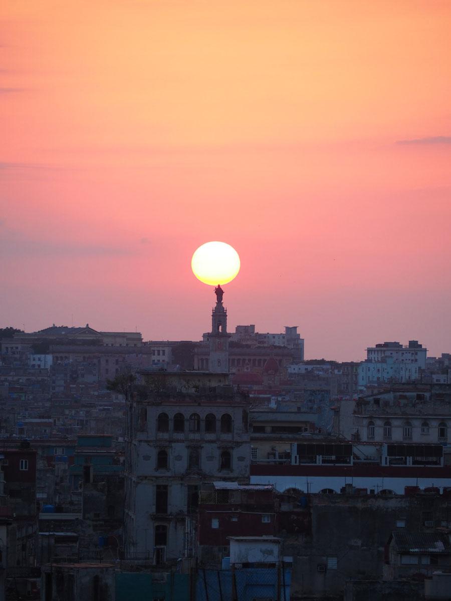 Havanna Kuba Sonnenuntergang