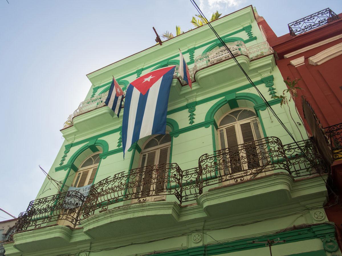Havanna sehenswertes grünes haus