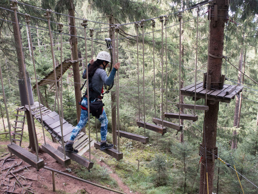 outdoorcenter hochseilgarten zillertal 2 - Highlights im Zillertal - auch bei Schlechtwetter