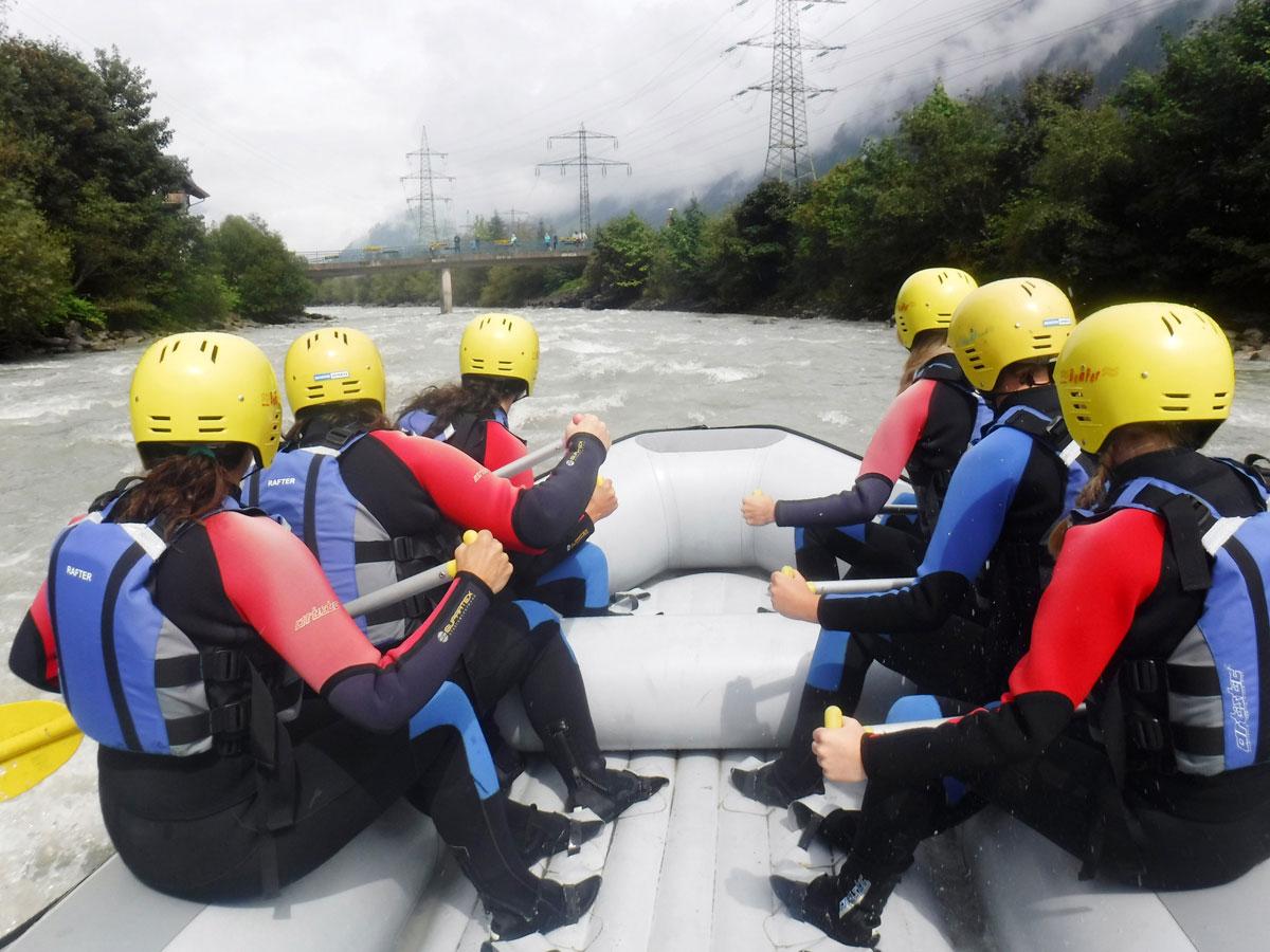 Rafting im Zillertal in Tirol