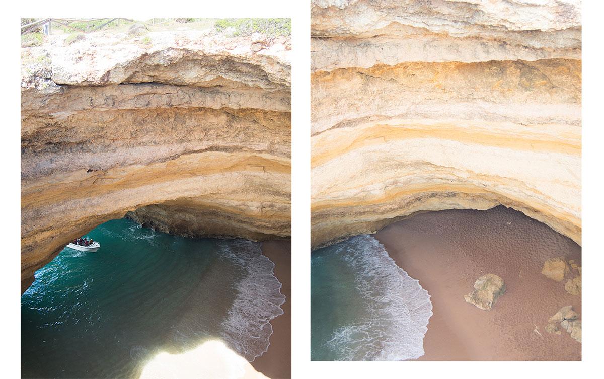 benagil hoehle oben - Die Benagil Höhle an der Algarve entdecken