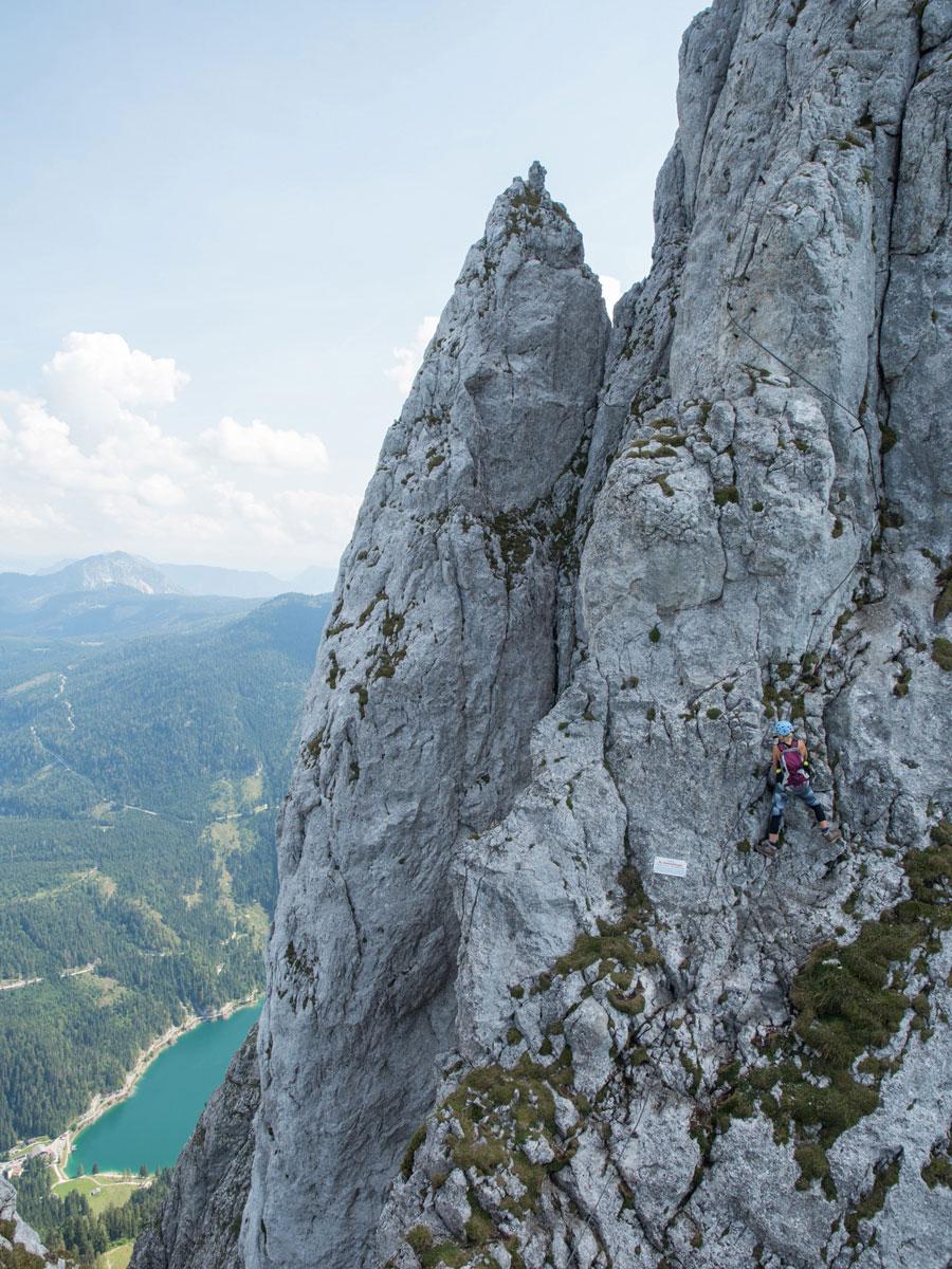 Klettersteig Donnerkogel Abschnitt Donnermandl