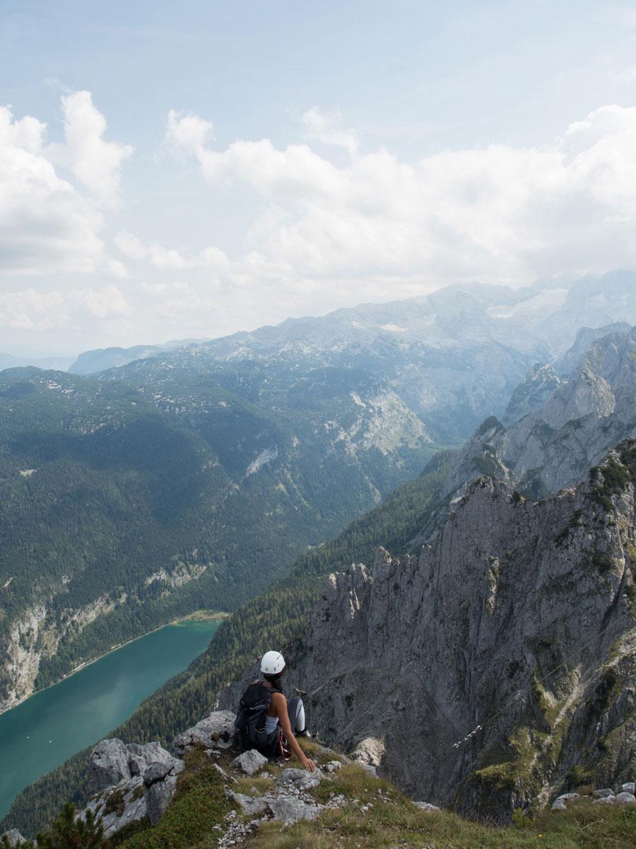 Der Donnerkogel Gipfel Ausblick