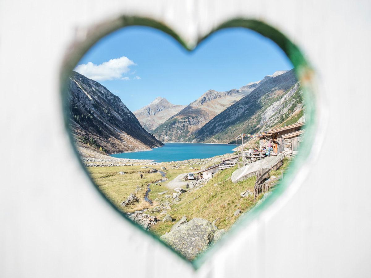 Hohenaualm Klein Tibet im Zillertal in Tirol Herzerl