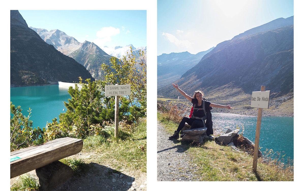 Weg zur Hohenaualm Klein Tibet im Zillertal in Tirol