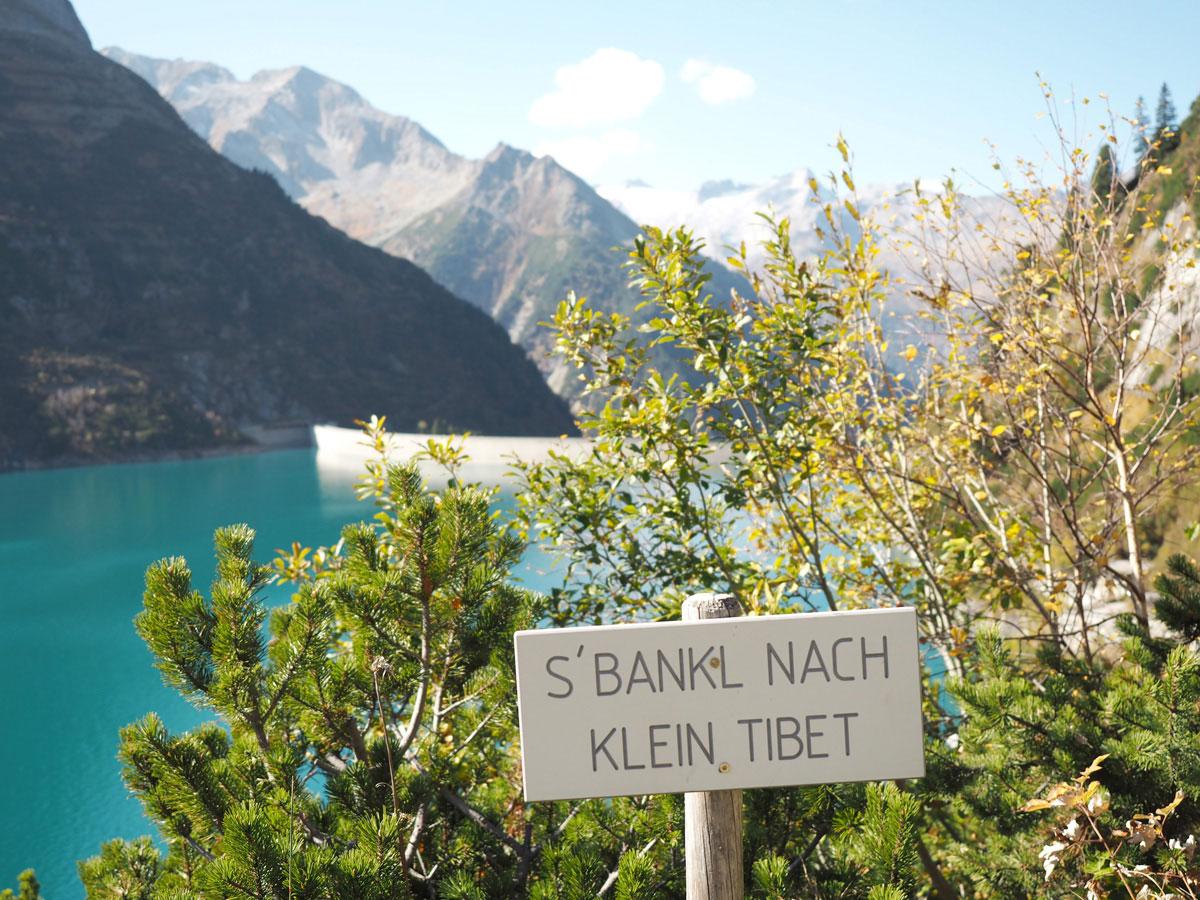 Zillergrund Stausee Zillertal Tirol Klein Tibet Bankerl
