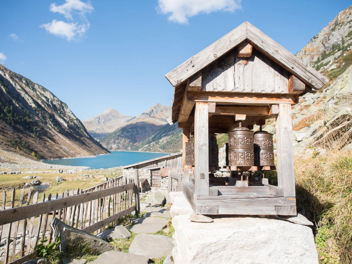 Gebetsmühle Hohenaualm Klein Tibet im Zillertal in Tirol