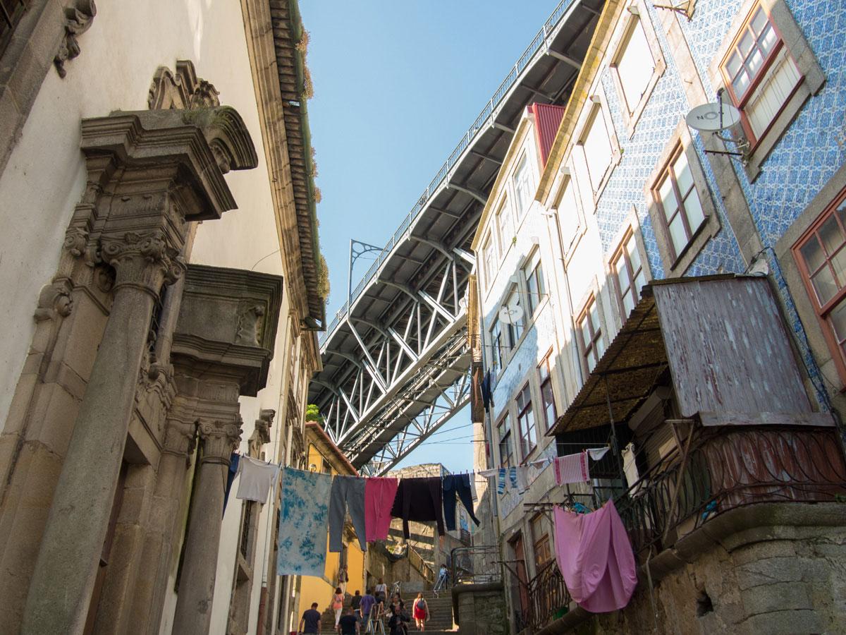 porto Strasse bei Ponte Dom Luis - Ein Tag in der Stadt Porto in Portugal